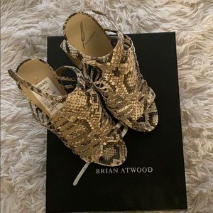 Brian Atwood Python Platform Gladiator Sandals